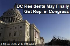 DC Residents May Finally Get Rep. in Congress