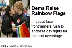Dems Raise Rainbow Flags