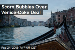 Scorn Bubbles Over Venice-Coke Deal