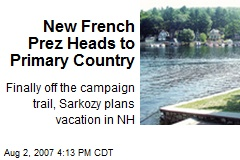New French Prez Heads to Primary Country