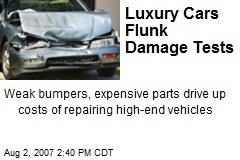 Luxury Cars Flunk Damage Tests