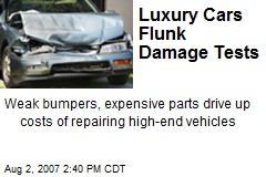 Luxury Cars Flunk Damage Tests