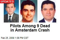 Pilots Among 9 Dead in Amsterdam Crash
