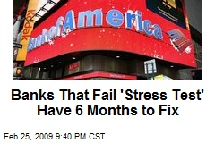 Banks That Fail 'Stress Test' Have 6 Months to Fix