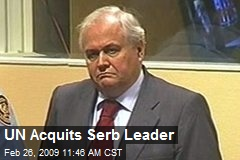 UN Acquits Serb Leader