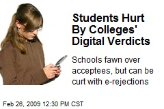 Students Hurt By Colleges' Digital Verdicts