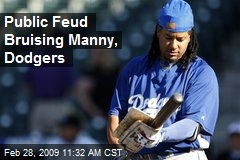 Public Feud Bruising Manny, Dodgers