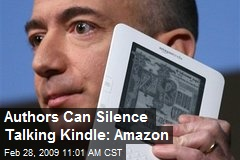 Authors Can Silence Talking Kindle: Amazon