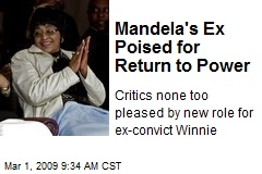 Mandela's Ex Poised for Return to Power