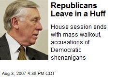 Republicans Leave in a Huff