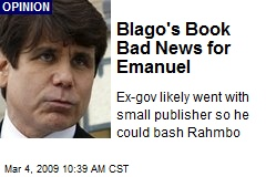 Blago's Book Bad News for Emanuel