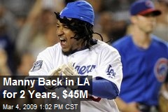 Manny Back in LA for 2 Years, $45M