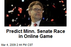 Predict Minn. Senate Race in Online Game