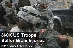 360K US Troops Suffer Brain Injuries