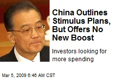 China Outlines Stimulus Plans, But Offers No New Boost