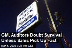 GM, Auditors Doubt Survival Unless Sales Pick Up Fast