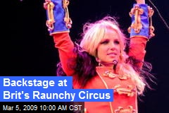 Backstage at Brit's Raunchy Circus