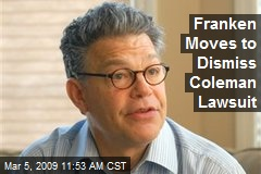 Franken Moves to Dismiss Coleman Lawsuit