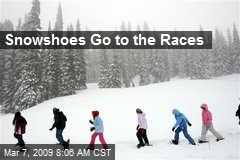 Snowshoes Go to the Races