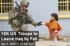 12K US Troops to Leave Iraq by Fall