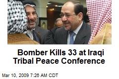 Bomber Kills 33 at Iraqi Tribal Peace Conference