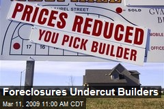 Foreclosures Undercut Builders