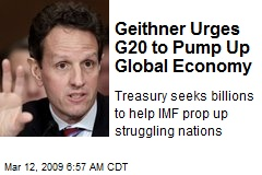 Geithner Urges G20 to Pump Up Global Economy