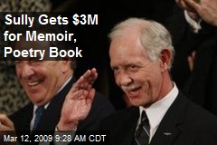 Sully Gets $3M for Memoir, Poetry Book