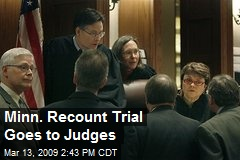 Minn. Recount Trial Goes to Judges