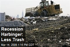 Recession Harbinger: Less Trash
