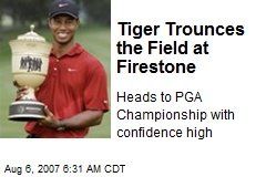 Tiger Trounces the Field at Firestone