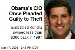 Obama's CIO Once Pleaded Guilty to Theft