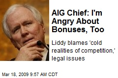 AIG Chief: I'm Angry About Bonuses, Too