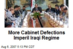More Cabinet Defections Imperil Iraqi Regime
