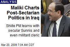 Maliki Charts Post-Sectarian Politics in Iraq