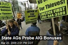 State AGs Probe AIG Bonuses