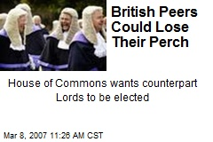 British Peers Could Lose Their Perch