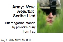Army: New Republic Scribe Lied