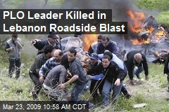 PLO Leader Killed in Lebanon Roadside Blast