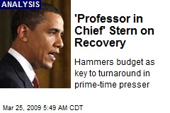 'Professor in Chief' Stern on Recovery