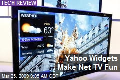 Yahoo Widgets Make Net TV Fun