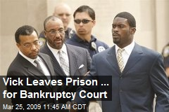 Vick Leaves Prison ... for Bankruptcy Court