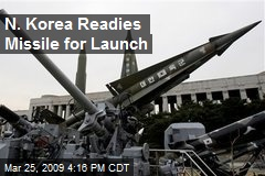 N. Korea Readies Missile for Launch