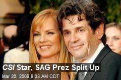 CSI Star, SAG Prez Split Up