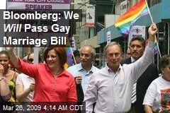 Bloomberg: We Will Pass Gay Marriage Bill