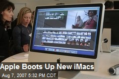 Apple Boots Up New iMacs