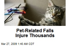 Pet-Related Falls Injure Thousands