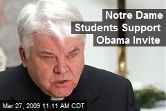 Notre Dame Students Support Obama Invite