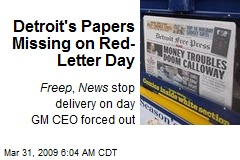 Detroit's Papers Missing on Red-Letter Day