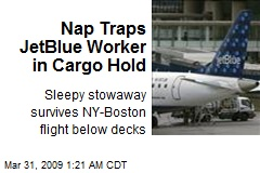 Nap Traps JetBlue Worker in Cargo Hold